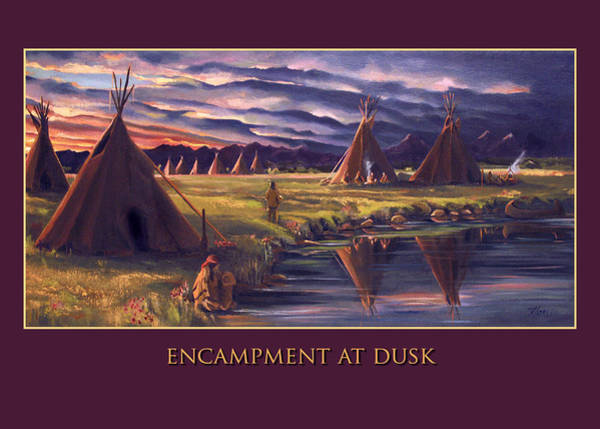 Painting - Encampment At Dusk by Nancy Griswold