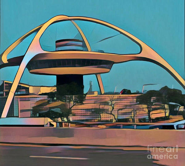 Photograph - Encounter Restaurant Atop Lax Theme Building by Gregory Dyer