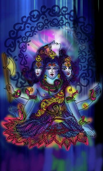 Painting - Enlightened Shiva by Guruji Aruneshvar Paris Art Curator Katrin Suter