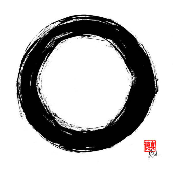 Painting - Enso / Zen Circle 12 by Peter Cutler