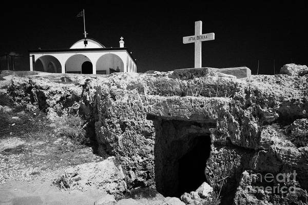 Wall Art - Photograph - Entrance To The Underground Old Church At Ayia Thekla Republic Of Cyprus Europe by Joe Fox