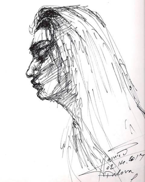 Sketch Wall Art - Drawing - Erbora by Ylli Haruni