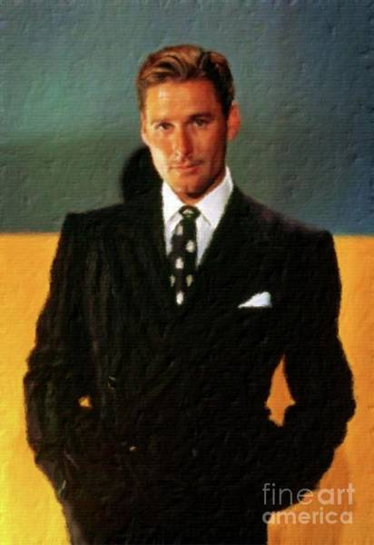 Pinewood Painting - Errol Flynn, Vintage Hollywood Legend by John Springfield