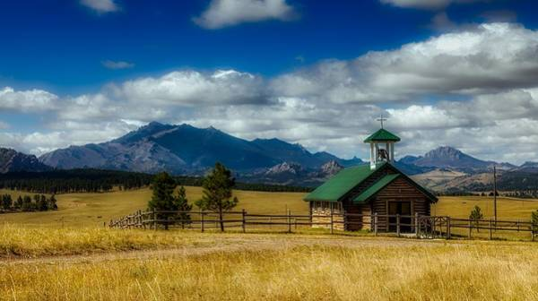 Laramie Photograph - Esterbrook Community Church - Wyoming by Mountain Dreams