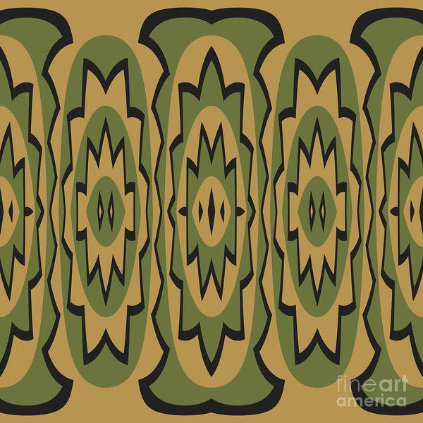 Tribal Digital Art - Ethnic Geometric Pattern by Gaspar Avila