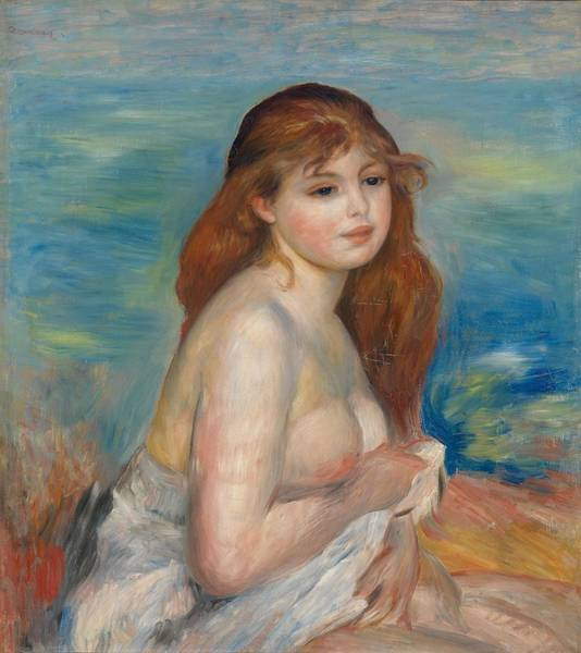 Painting - After The Bath by Auguste Renoir