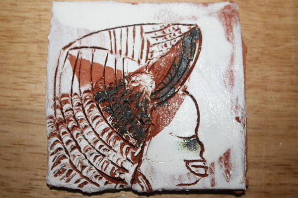 Ceramic Art - Eugenie - Tile by Gloria Ssali