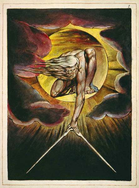 William Blake Drawing - Europe A Prophecy by William Blake