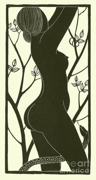 Gill Drawing - Eve by Eric Gill
