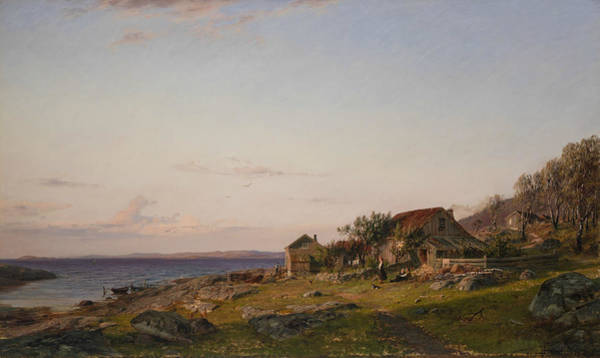 Norwegian Painting - Evening by Amaldus Nielsen