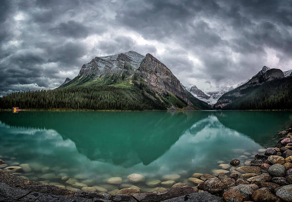 Lake Louise Photograph - Evening At The Lake by Robert Fawcett