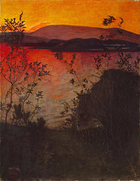 Painting - Evening Glow by Harald Sohlberg