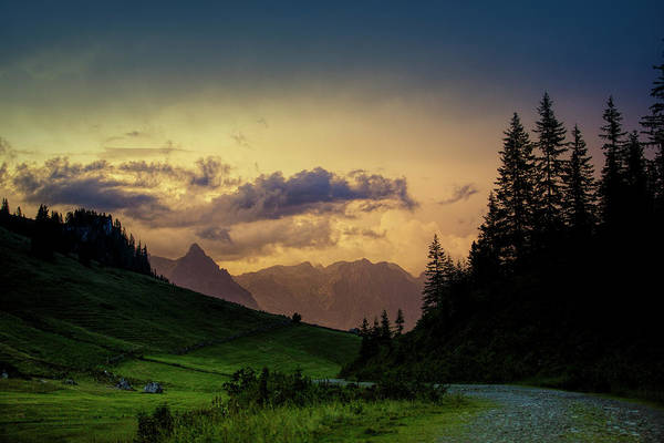 Range Photograph - Evening In The Alps by Nailia Schwarz