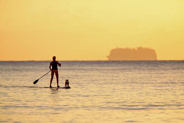 Art Print featuring the photograph Evening Paddle by David Buhler