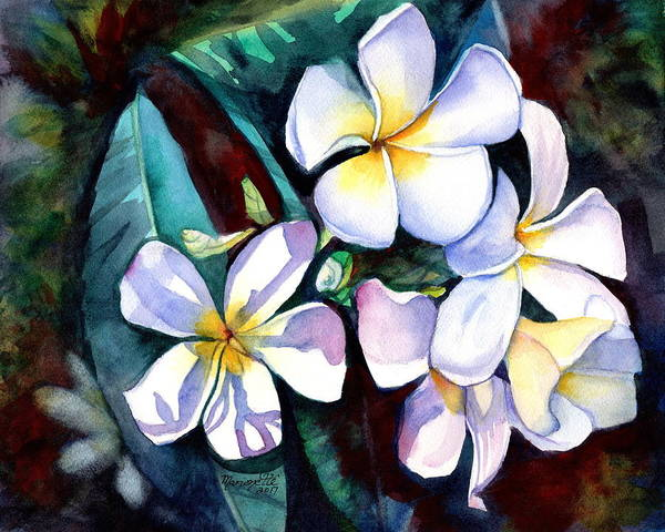 Painting - Evening Plumeria by Marionette Taboniar