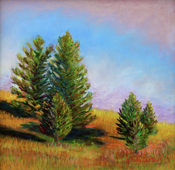 Painting - Evening Sun In Yellowstone by Polly Castor
