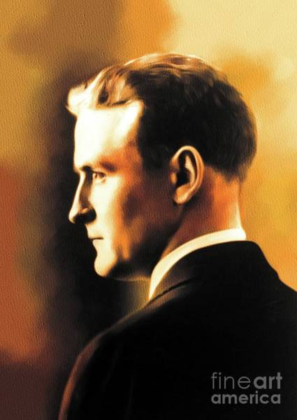 Wall Art - Painting - F. Scott Fitzgerald, Literary Legend by John Springfield