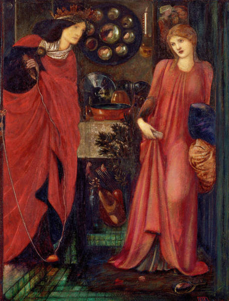 Wall Art - Painting - Fair Rosamund And Queen Eleanor by Edward Burne-Jones