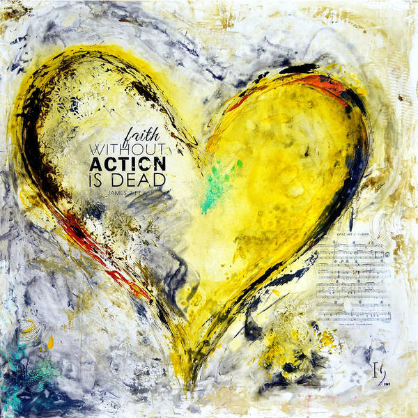 Wall Art - Painting - Faith Without Action Is Dead by Ivan Guaderrama