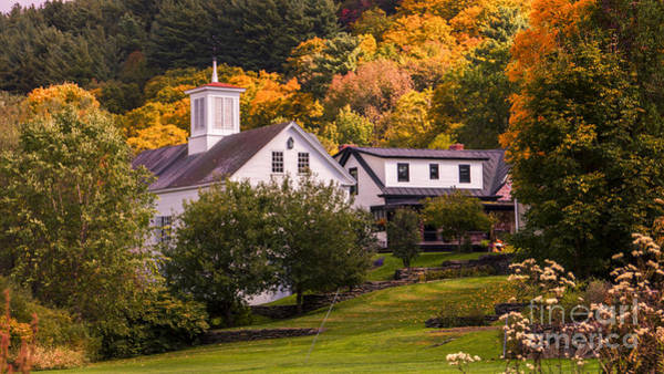 Photograph - Fall Foliage In Stowe, Vermont by New England Photography