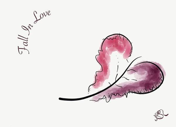 Drawing - Fall In Love by Jason Nicholas
