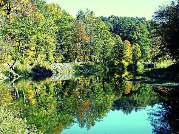 Photograph - Fall On The Ottauquechee River by Joseph Hendrix