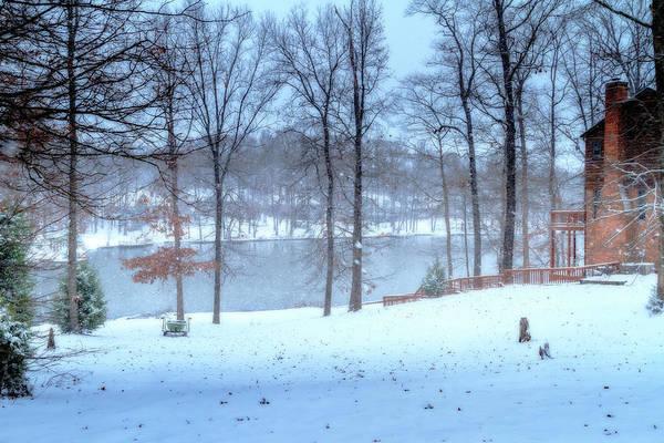 Photograph - Falling Snow - Winter Landscape by Barry Jones