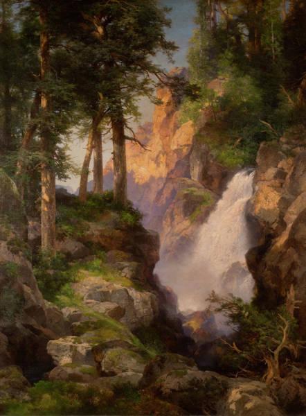 Moran Painting - Falls At Toltec Gorge by Thomas Moran