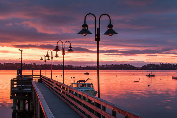 Falmouth Town Landing Sunrise Art Print