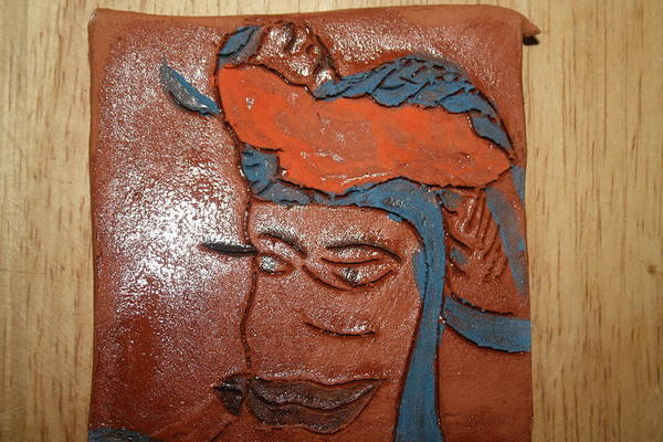 Ceramic Art - Family 12 - Tile by Gloria Ssali