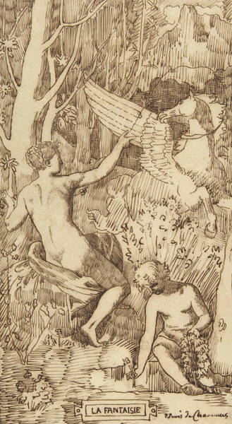 Drawing - Fantasy by Pierre Puvis de Chavannes