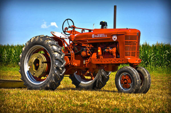 Farmall Photograph - Farmall Tractor by Brian Mollenkopf