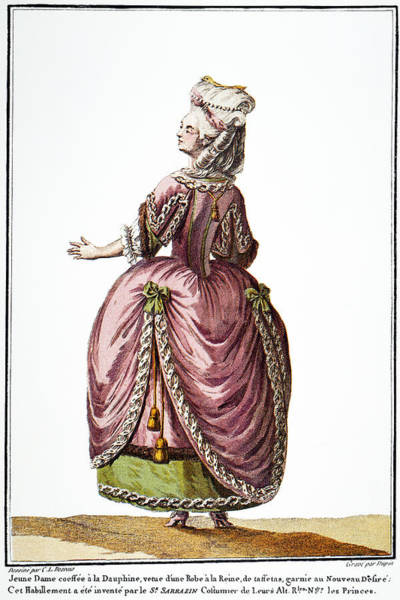 Photograph - Fashion: French, 1778 by Granger