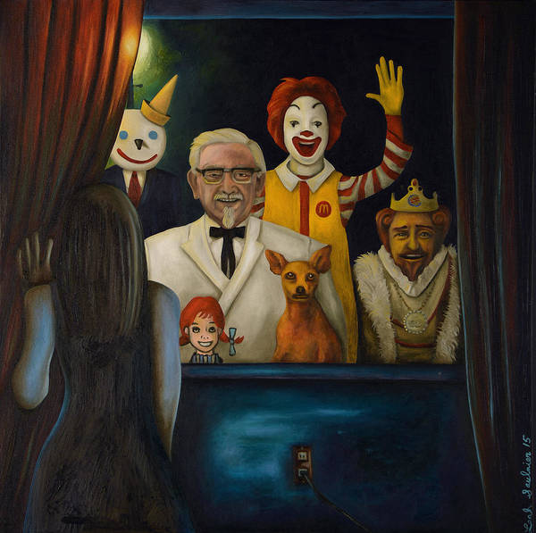 Painting - Fast Food Nightmare 4 by Leah Saulnier The Painting Maniac