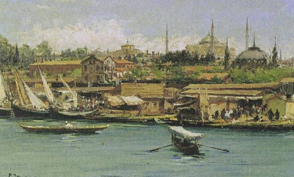 Fausto Zonaro Painting - Fausto Zonaro Istanbul by Eastern Accents