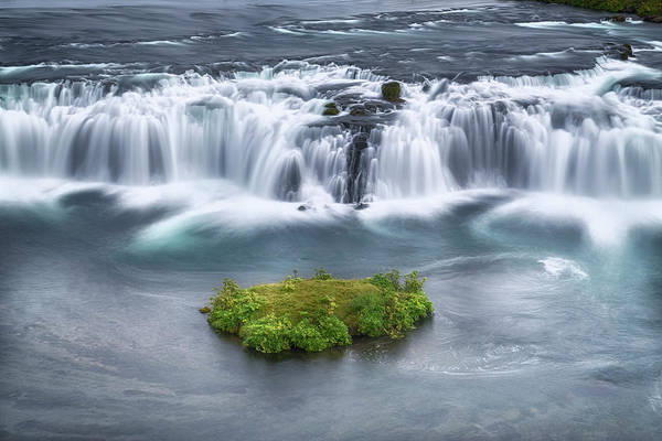 Golden Circle Photograph - Faxi Waterfall - Iceland by Joana Kruse