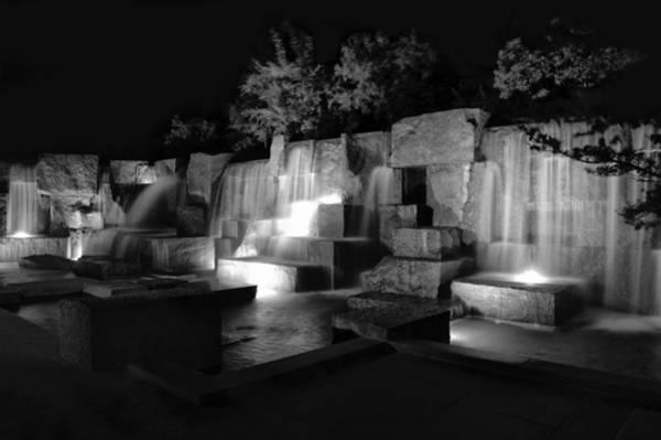 Wall Art - Photograph - Fdr Memorial Water Wall by Paul Basile