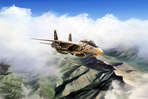 Wall Art - Digital Art - Fear The Bones F-14 by Peter Chilelli