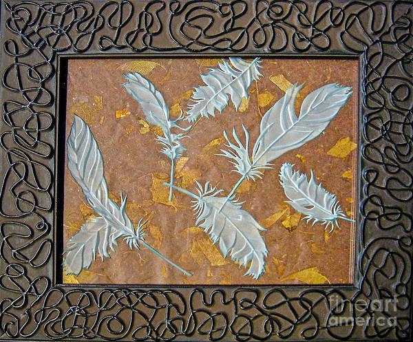 Glass Art - Fall Feathers by Alone Larsen