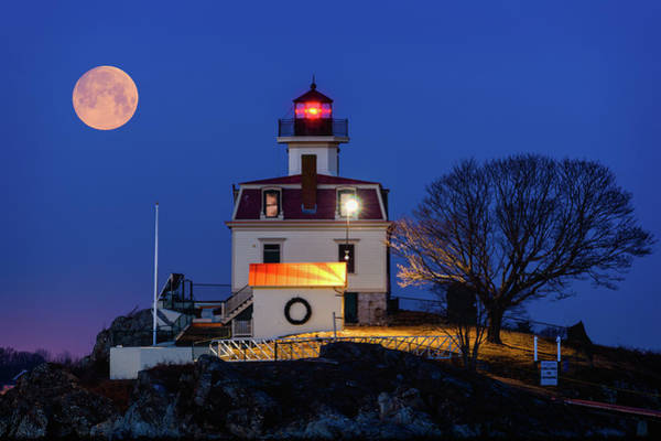 Wall Art - Photograph - February Moon by Michael Blanchette