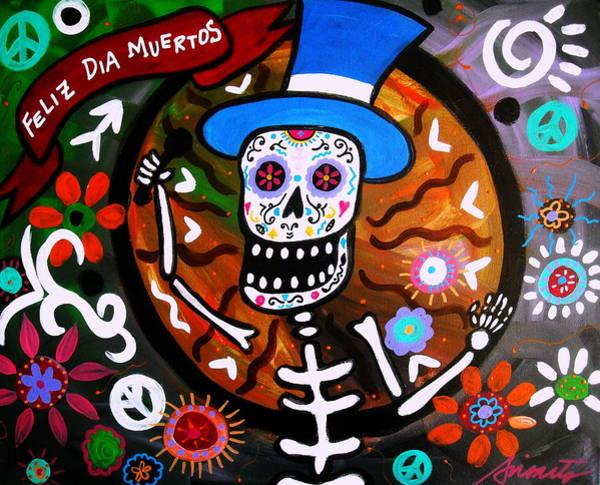 Harana Wall Art - Painting - Feliz Dia Muertos by Pristine Cartera Turkus