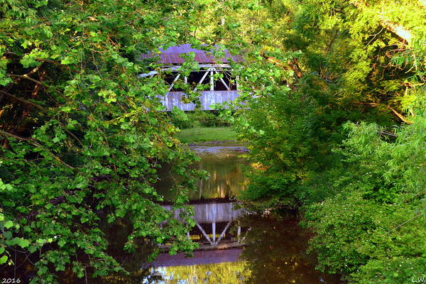 Photograph - Felton Covered Bridge Ruins by Lisa Wooten