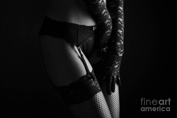 Garter Photograph - Female Lingerie by Jelena Jovanovic