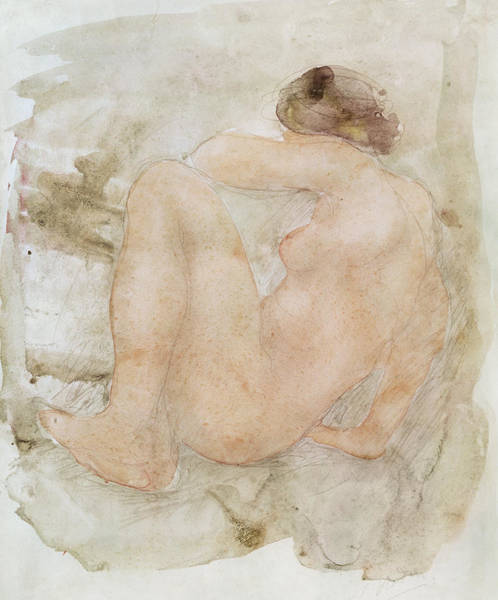 Butt Painting - Female Nude by Auguste Rodin