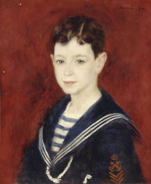 Painting - Fernand Halphen As A Boy by Auguste Renoir