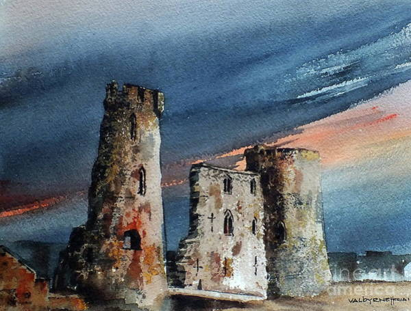 Painting - Ferns Castle, Wexford by Val Byrne