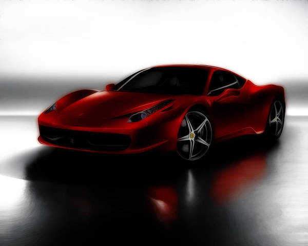 458 Digital Art - Ferrari 458 by Brian Reaves