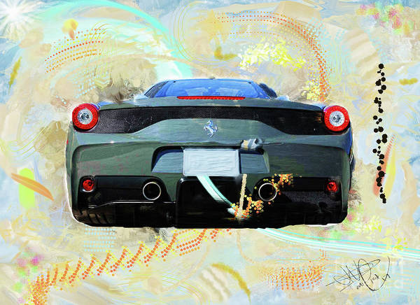 458 Digital Art - Ferrari 458 Speciale by Donald Pavlica