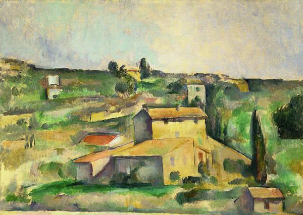 Cezanne Wall Art - Painting - Fields At Bellevue  by Paul Cezanne