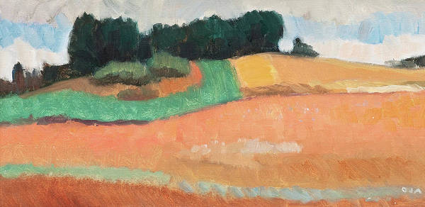 Barley Painting - Fields by Onni Oja